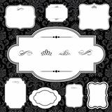 Vector Damask Pattern and Frame Set