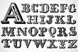 Vector Decorative Font Set
