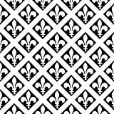 Vector Crossing Fleur de Lys Pattern
