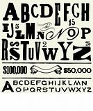 Vector Old Type and Alphabet