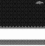 Vector Black Damask and Dot Background