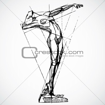 Vector Vintage Drawing Model