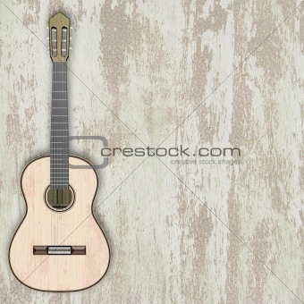 abstract musical background acoustic guitar