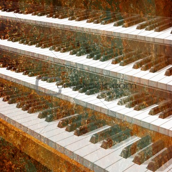 abstract musical background piano