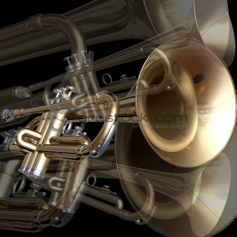 abstract musical background trumpet