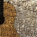 abstract musical background guitar and notes