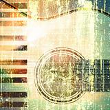 abstract musical background guitar and piano