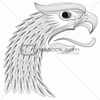 Vector Eagle Head Ornament