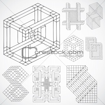 Vector Puzzle Ornaments