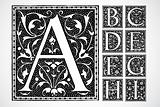 Vector Ornate Alphabet A-I