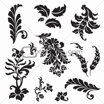 Vector Floral Ornament Set