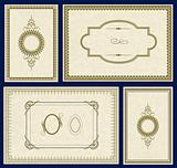 Vector Ornate Gold Frame Set