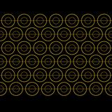 Vector Gold Circle Pattern