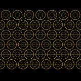 Vector Gold Circle Pattern