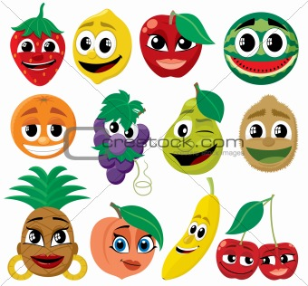 Cartoon Fruits