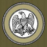 Vector Green Eagle Seal