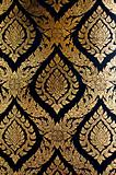 gold and black wall pattern