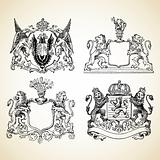 Vector Medieval Animal Crests