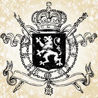 Vector Military Lion Crest
