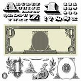 Vector Money Ornaments and Letters