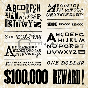 Vector Retro Poster Fonts