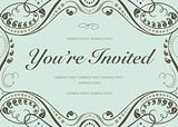 Vector Blue Invitation Background