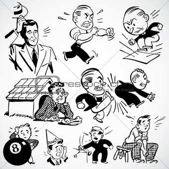 Vector Vintage Angry Men and Bosses