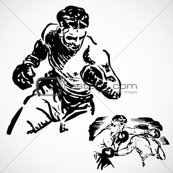Vector Vintage Boxing Graphics