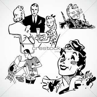 Vector Vintage Families