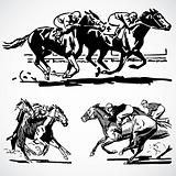 Vector Vintage Horse Racing Graphics