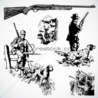 Vector Vintage Hunting Rifles and Graphics