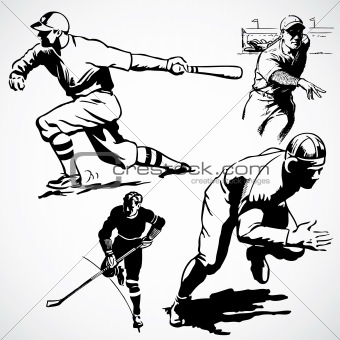 Vector Vintage Athletes