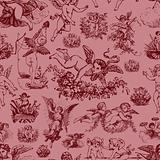 Vector Seamless Cupid Pattern