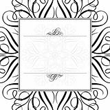 Vector Ornament and Matching Frame