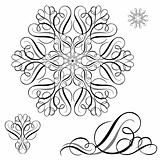 Vector Ornament Pieces Set