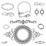 Vector Swirl Ornament and Frame Set