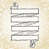 Vector Woodcut Scroll Illustration