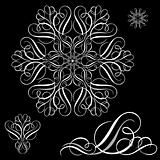 Vector White Ornament Set