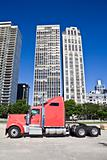 Truck om downtown Chicago