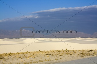 After sunrise in White Dunes National Monument