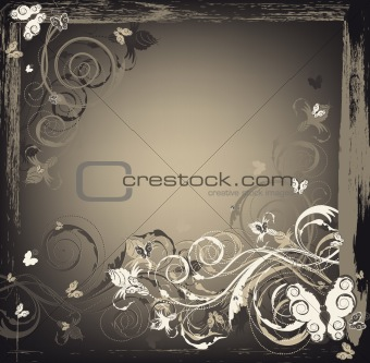Beauty floral grunge background