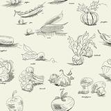 Seamless pattern with vegetable
