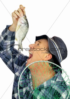 Eating Fish Fisherman