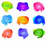 Vector transparent bubbles for speech