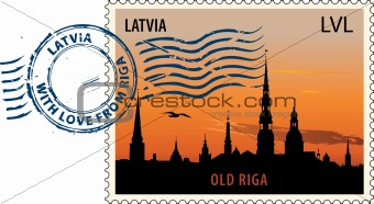 Postmark from Latvia