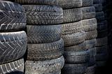 Large pile of used tires