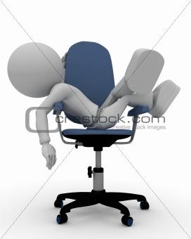 sleep on chair