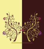 Flowering tree vector illustration