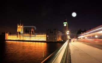 Big Ben and Westminster at night