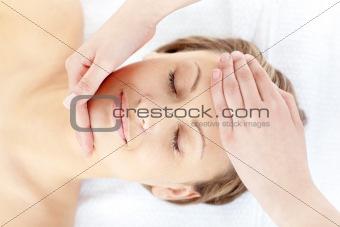 Slack woman having a massage